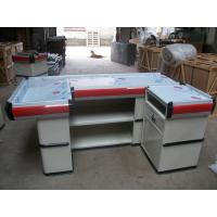Quality Commercial Shop Cash Register Table Counter Desk / Metallic Cashier Desk With Solid Structure for sale