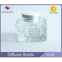 Wholesale Silver Caps Glass Diffuser Bottles , Square Reed Diffuser Bottles from china suppliers