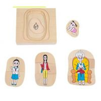 Wholesale Montessori Materials - Life Cycle of Woman Dimension: 15*15*2cm from china suppliers