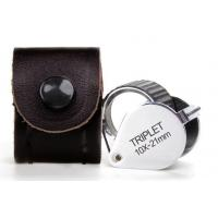 Wholesale Folding Triplet Jewelers Loupe Magnification Of 10x For Checking Gem Diamond from china suppliers