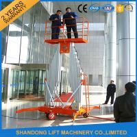 Wholesale Mobile Aerial Working Electric Lift Ladder Renting Scaffolding with 4 Wheels from china suppliers