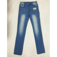 Wholesale Light Blue Ripped Womens Slim Straight Leg Jeans Plus Size Relaxed Fit from china suppliers