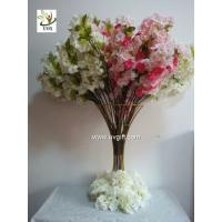 Buy cheap UVG pink artificial cherry blossom branch in silk flowers for wedding decoration CHR091 from wholesalers