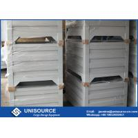 Quality Material Handling Metal Pallet Boxes With Wheels , Stackable Pallet Cages Turnover Box for sale