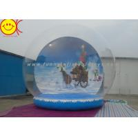 Wholesale Customized Logo Holiday Inflatables , PVC Inflatable Snow Globe Decorative Holiday for Christmas from china suppliers