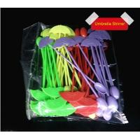 Wholesale 194mmx35mm Disposable White Plastic Cutlery PS Umbrella Shape Stirrer from china suppliers