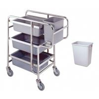 Wholesale Restaurant Dining Room Leftover Stainless steel Serving Cart Silver from china suppliers