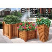 Wholesale WPC plastic flower pot for artificial plants from china suppliers