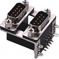 Wholesale Right Angle 9 Pin D Type Male Connector Dual Row D Shell Connector from china suppliers