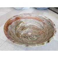Wholesale Tiger Onyx Green Kitchen Bathroom Sinks Vessel Washbasins None Overflow from china suppliers