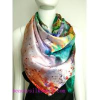Wholesale 100% Silk Scarf, Silk twill scarf, colorful silk scarves, magic customized design from china suppliers