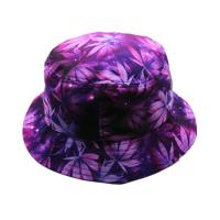 Wholesale Flat Top Custom Tie Dye Bucket Hat 58CM Portable Polyester With Smooth Tactility from china suppliers