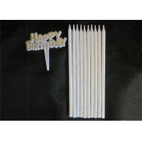 Wholesale 10pcs Long Glitter White Candles With 10 Holders For Birthday Celebration from china suppliers
