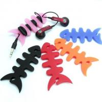 Wholesale Silicone Wire Keeper / Silicone Cable Winder For Your MP3 / PM4 Player Or ipod