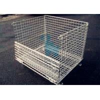 Wholesale Galvanized Finish Logistic Wire Mesh Cages / Folding storage cage from china suppliers