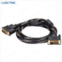 Wholesale Linsone Hight quality Black DVI to DVI-I/DVI-D cable from china suppliers