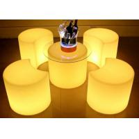 Wholesale LI - Battery Remote WIFI Control LED Coffee Table , Illuminated Bar Table from china suppliers