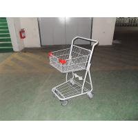 Wholesale Grocery Portable Four Wheeled Shopping Trolley with Powder Coating from china suppliers