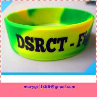 Buy cheap swirl color 1 inch debossed silicone bands from wholesalers