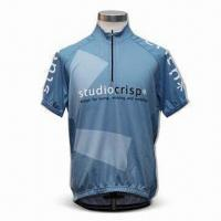 Wholesale Cycling Jersey, Made of Flocked Polyester, Ideal for Wicking Sweat Away From the Skin from china suppliers