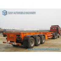 Wholesale Custom Q235 / Q345 40 Foot Flatbed Semi Trailer 50 Ton For Transportation from china suppliers