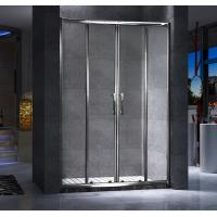Wholesale Four Doors Custom Glass Shower Doors And Frame Translucent PVC Strips Waterproof from china suppliers