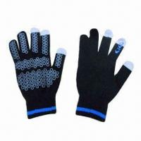 Wholesale Knitted Touch Screen Gloves, Made of 95% Acrylic and 5% Polyester, Available in Various Colors from china suppliers