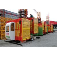 Wholesale SC200/200 Double Cage Yellow Construction Industry Passenger Hoist with Tube: Ø76×4.5 from china suppliers