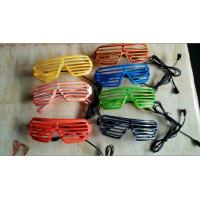Wholesale Flash El Wire Sun Glasses , Glow In The Dark Shutter Glasses Plastic from china suppliers