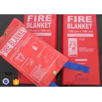 Wholesale White Fiberglass Kitchen Fiber Glass Fabric Industrial Emergency Fire Blanket from china suppliers