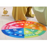 Wholesale Short Plush Welcome Door Mats Outdoor Round Rugs For Toilet / Balcony from china suppliers