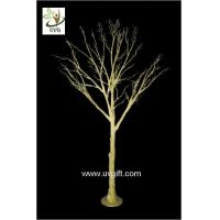 Wholesale UVG 10ft artificial gold wishing tree with decorative twigs for party table decorations DTR30 from china suppliers