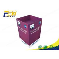 Wholesale Eco - Friendly Paper Cardboard Recycling Bins Snacks Retail Point Of Purchase Displays from china suppliers
