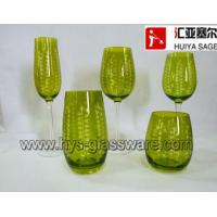 Wholesale engraved dots, flute/champagne, wine glasses,tumblers,hiball 2014 new products hot items from china suppliers