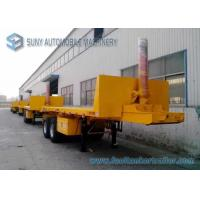 Wholesale 30 T Doubel Axles 20 feet Trailer , Flat Bed Dump container semi trailer from china suppliers