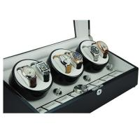 Wholesale High quality brown wooden display boxes cheap automatic watch winder with leather lining from china suppliers