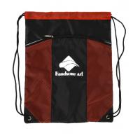 Wholesale Red Backpack Polyester Drawstring Bag With Pockets , Custom Cinch Sacks from china suppliers