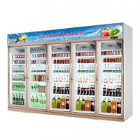 Buy cheap Glass Door Upright Commercial Beverage Refrigerator For Supermarket from wholesalers