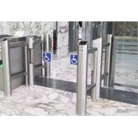 China 304 Stainless steel waist height Pedestrian Swing Gate with clear acrylic arm on sale