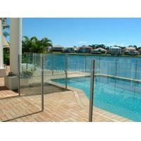 Wholesale 8mm Flat Tempered Glass Pool Fencing , Splashback Glass Handrails from china suppliers