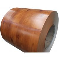 Wholesale Wood Texture Prepainted Galvalume Steel Coil , EN ASTM PPGL Coil from china suppliers