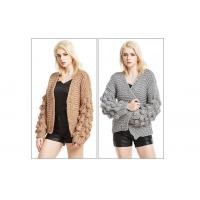 China Chunky knit cardigan knitted cardigan woman knitwear Hand knit cardigan Knit Cardigan Sweater on sale