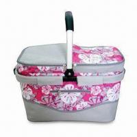 Wholesale Picnic/Utility Basket with One Aluminum Handle, Made of Polyester, Measuring 45 x 25 x 26cm from china suppliers