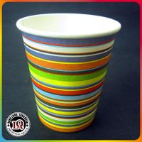 Wholesale Single Wall Beverage Paper Cup with Colorful Zebra Stripes from china suppliers