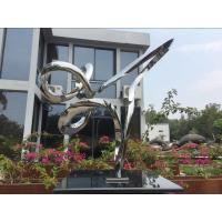 Wholesale Outdoor Abstract Small Garden Sculptures , Modern Stainless Steel Sculpture from china suppliers