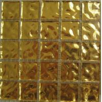 Wholesale Luxury Gold Mosaic Tiles, 4mm 24k Real Gold Mosaic Wall Tiles For Villa from china suppliers