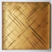 Wholesale 7MM Clear Security Laminated Art Glass Grid Pattern Wired Mesh Embedded from china suppliers
