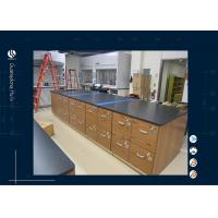 Wholesale All Wooden Material Laboratory Island Bench Dental Lab Furniture With Drawers from china suppliers