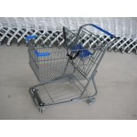 Wholesale Unfolding Style Supermarket Shopping Trolley , Wire Metal Shopping Cart from china suppliers
