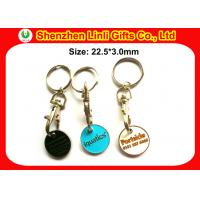 Wholesale Customs metal keychains shopping cart trolley token keyring for promotional LL-HK1004281 from china suppliers